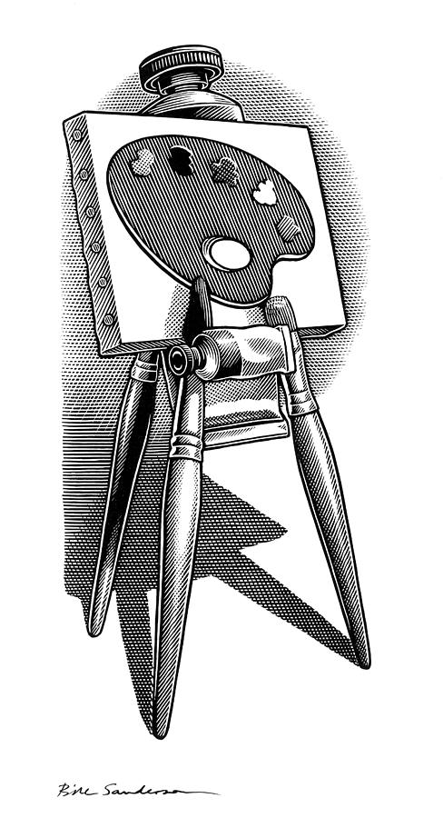 Artists Easel, Artwork Photograph  - Artists Easel, Artwork Fine Art Print