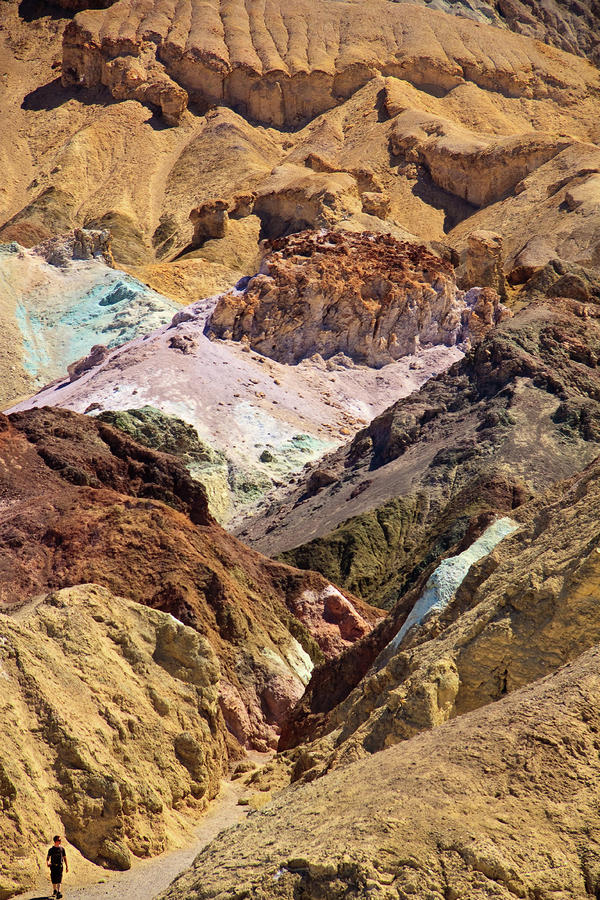 Artists Palette At Death Valley Photograph  - Artists Palette At Death Valley Fine Art Print