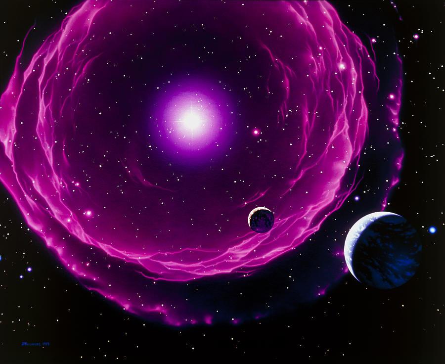 Artwork Of A Future Sun Ejecting Planetary Nebula ...