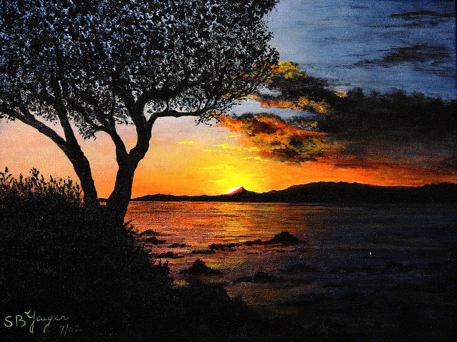 Aruba Sunset Painting  - Aruba Sunset Fine Art Print