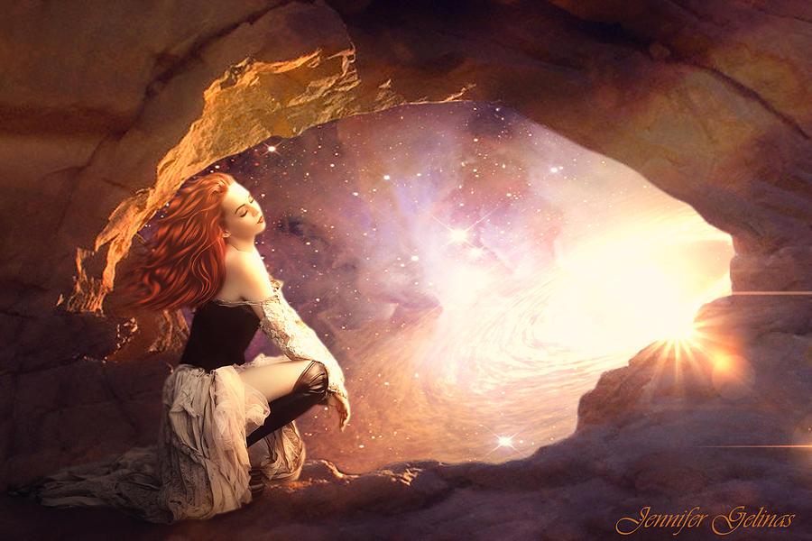 Galaxy Digital Art - As Above by Jennifer Gelinas