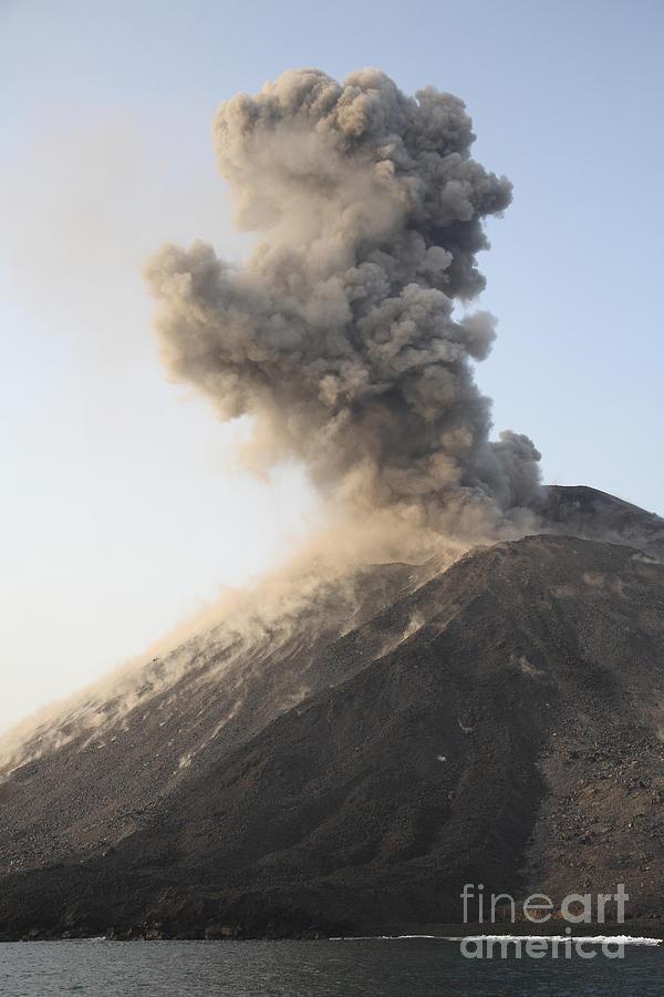 Ash Cloud From Vulcanian Eruption Photograph