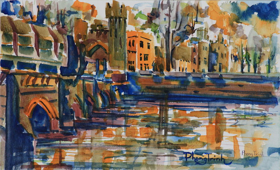 Architecture Painting - Ashford 2 by Phong Trinh