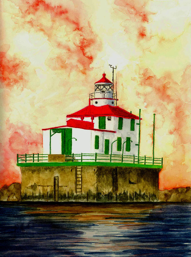 Ashtabula Lighthouse Painting  - Ashtabula Lighthouse Fine Art Print