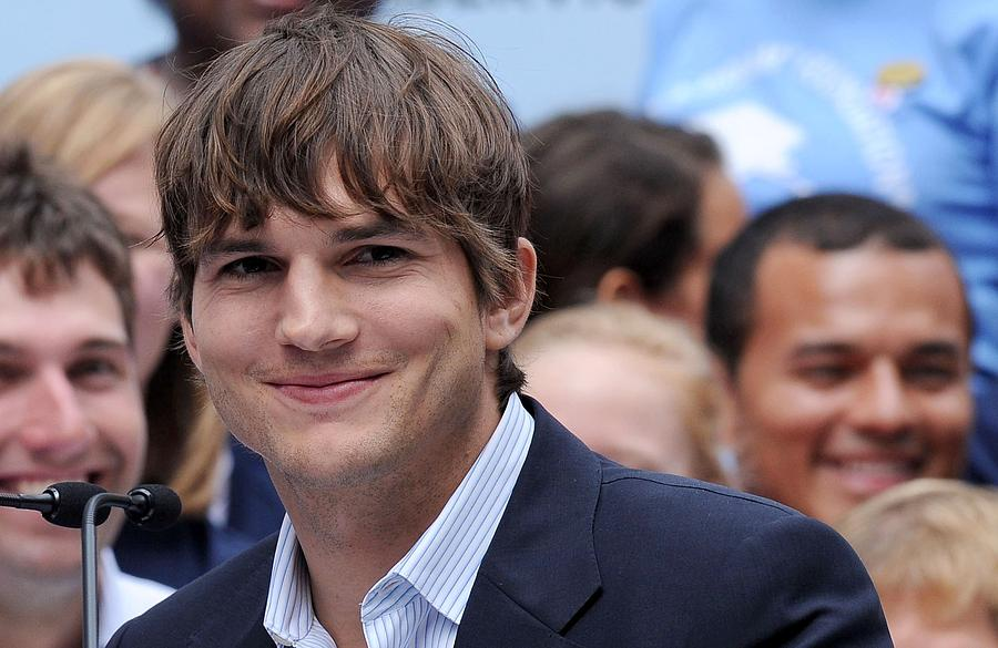 Ashton Kutcher At The Press Conference Photograph  - Ashton Kutcher At The Press Conference Fine Art Print