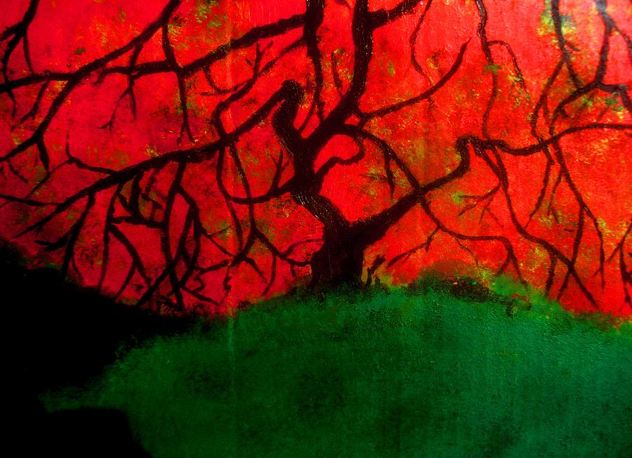 Expressive Impression Painting - Asian Maple by Allen n Lehman