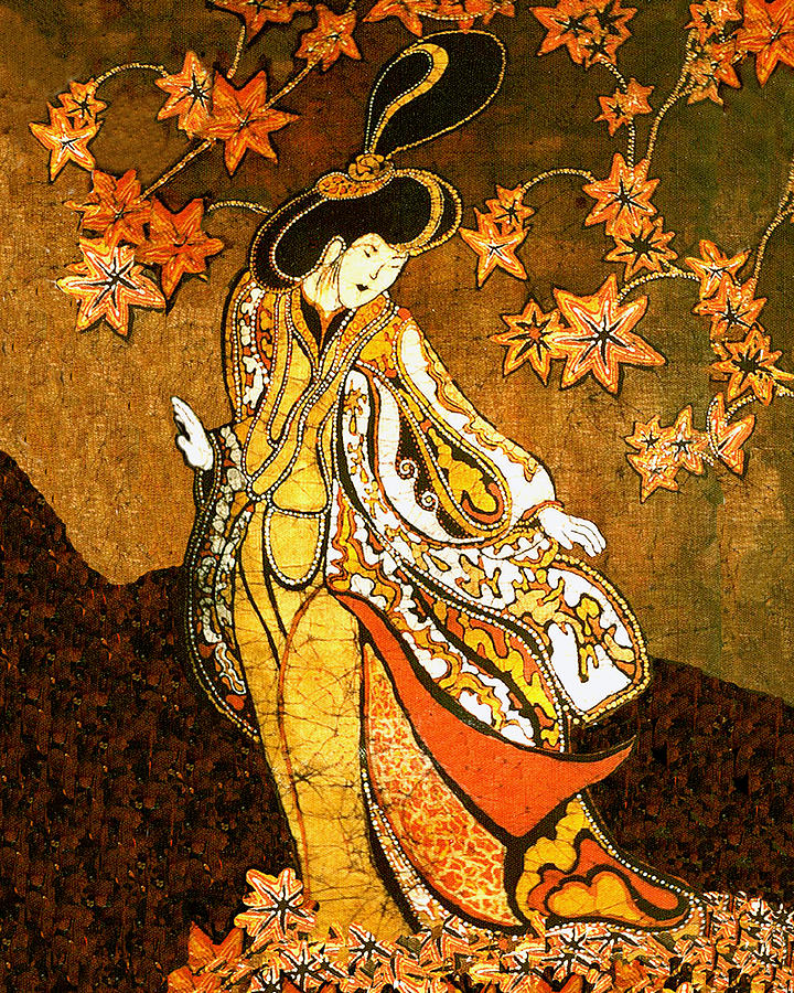Asian Woman Tapestry - Textile  - Asian Woman Fine Art Print