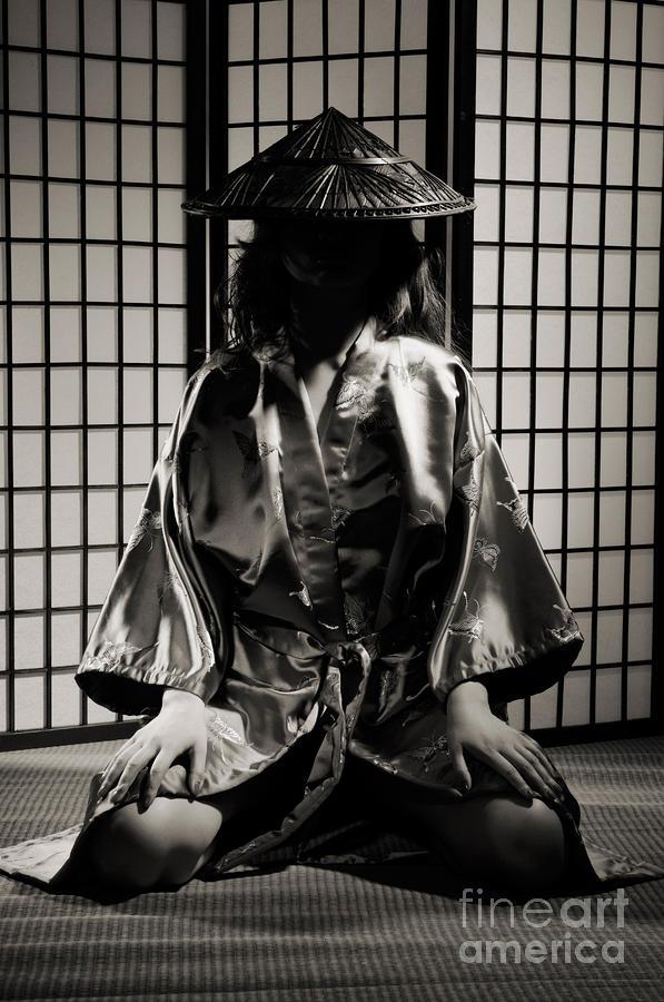 Asian Woman In Kimono Photograph