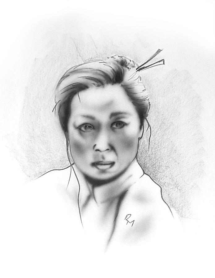 Asian Woman Mixed Media