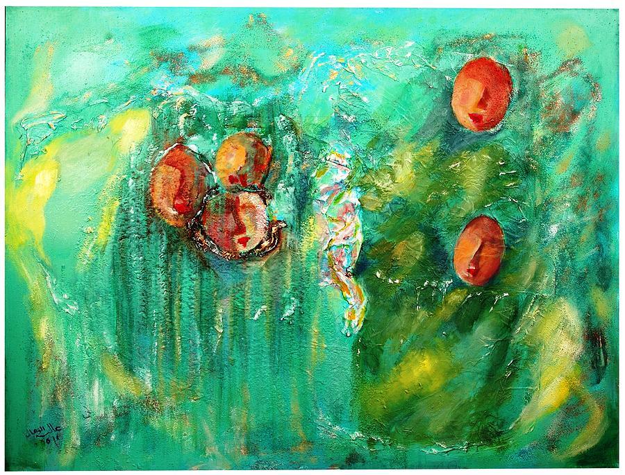 Contemporary Painting - Asmaa by Alia Al Wahab
