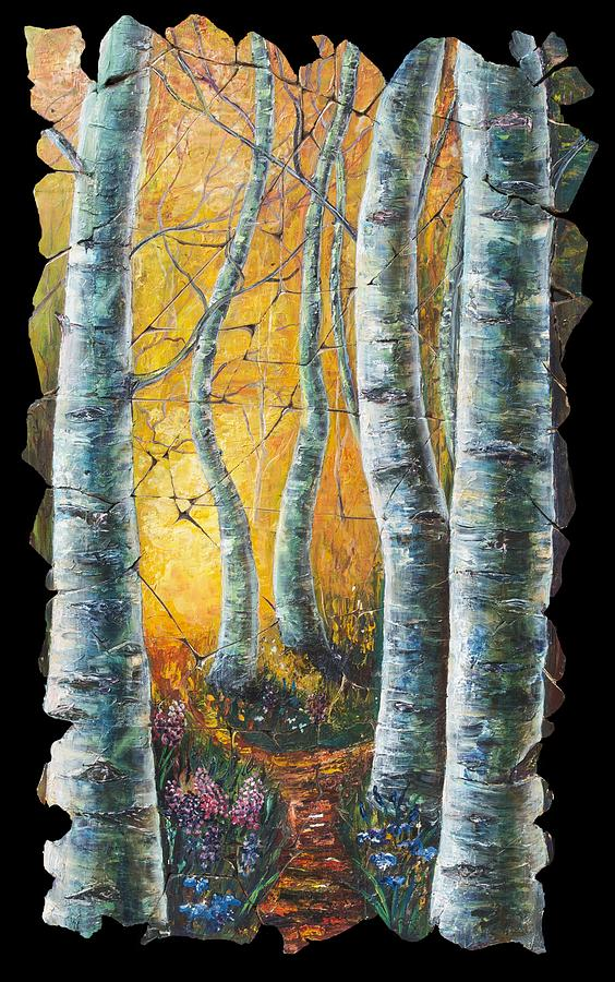 Aspen Path Fresco Painting  - Aspen Path Fresco Fine Art Print