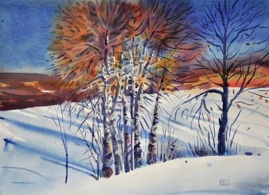 Aspin In The Snow Painting  - Aspin In The Snow Fine Art Print