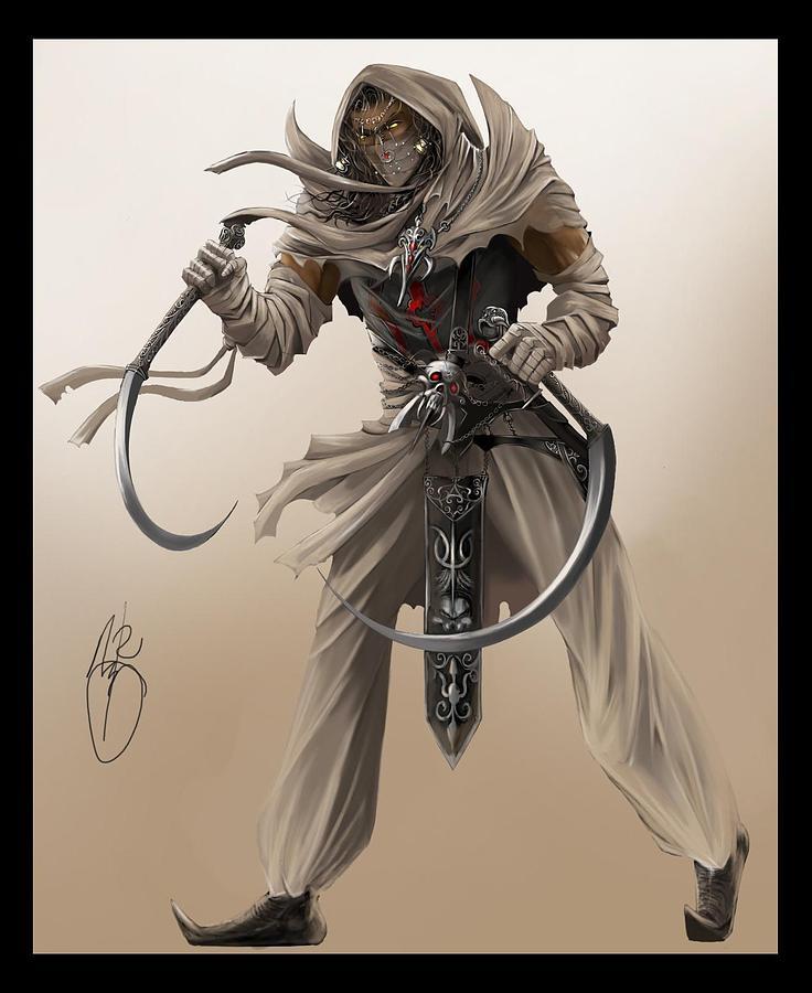 Assassin Digital Art - Assassin by Antoine Ridley