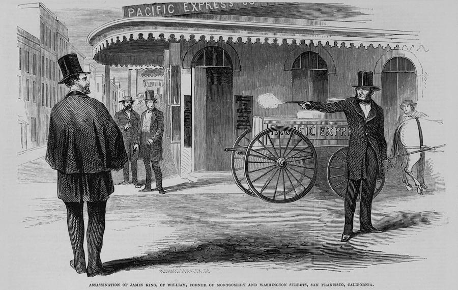 Assassination Of James King, Newspaper Photograph  - Assassination Of James King, Newspaper Fine Art Print