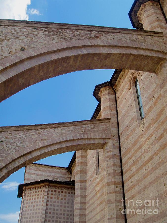 Assisi Italy - Basilica Of Santa Chiara Photograph