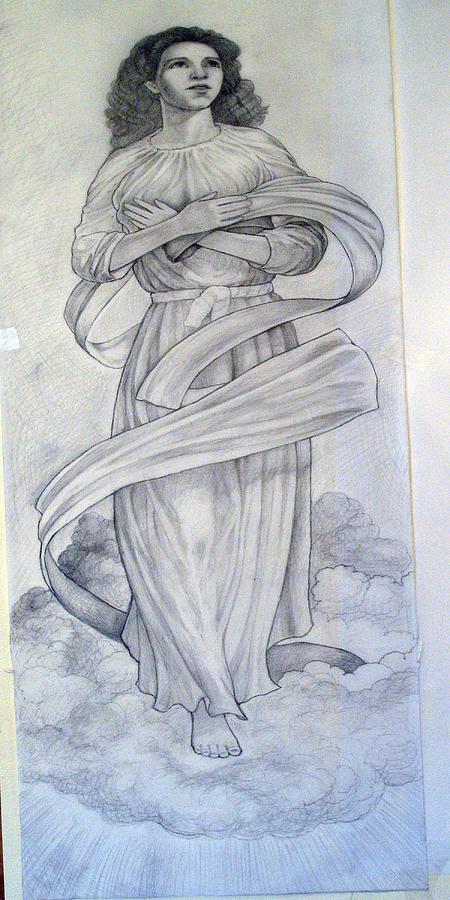 Assumption Of The Virgin Drawing