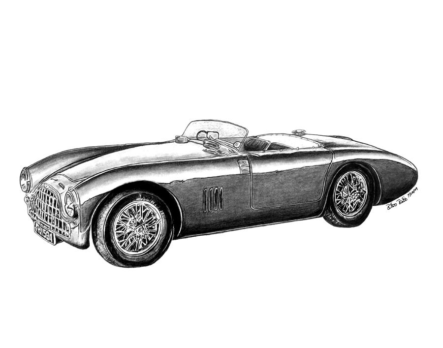 Aston Martin Db-5 Drawing  - Aston Martin Db-5 Fine Art Print
