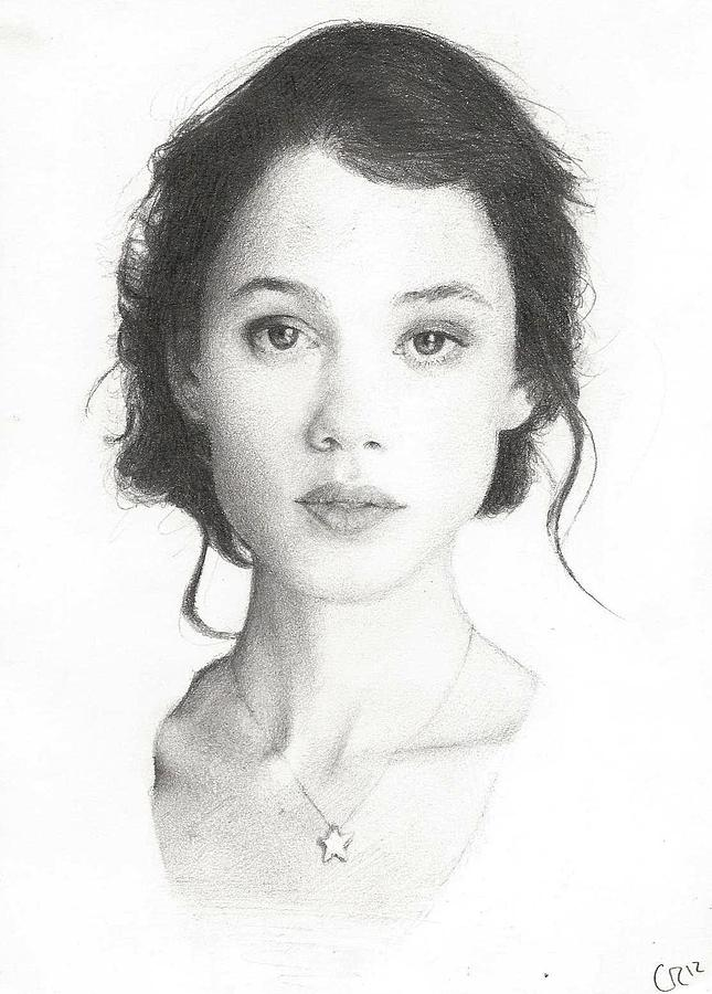 Actress Drawing - Astrid Berges-frisbey by Chris Riley