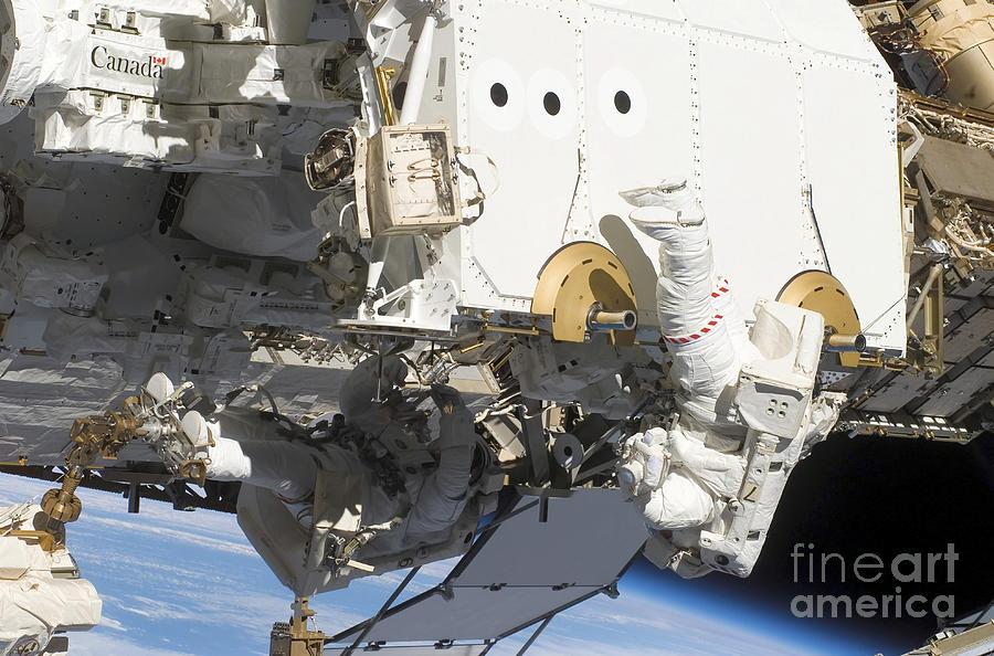 Astronauts Participate Photograph