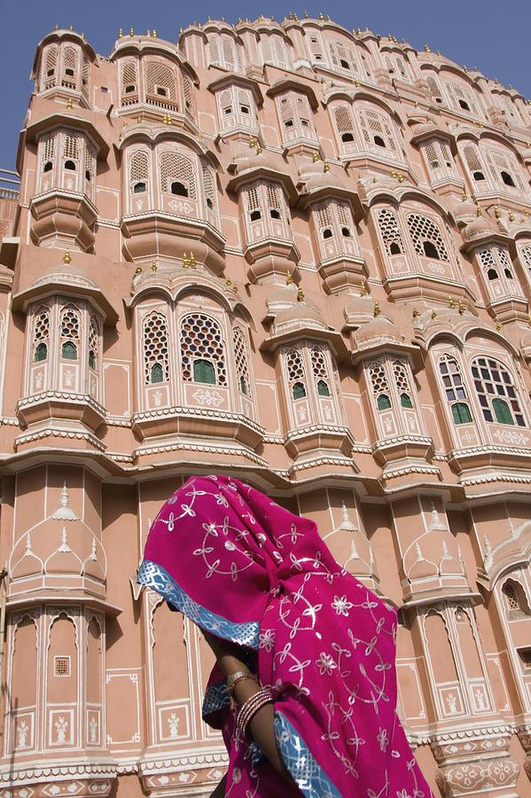 Indian Sub-continent!indian Subcontinent Photograph - At Hawa Mahal City Palace, Jaipurs Most by Axiom Photographic