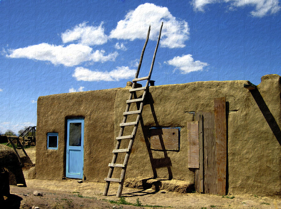 At Home Taos Pueblo Photograph