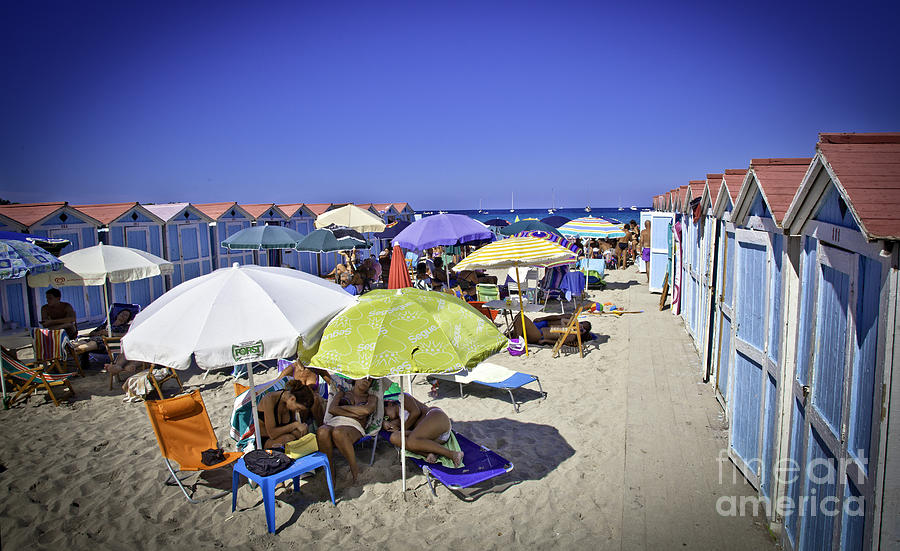 At Mondello Beach - Sicily Photograph