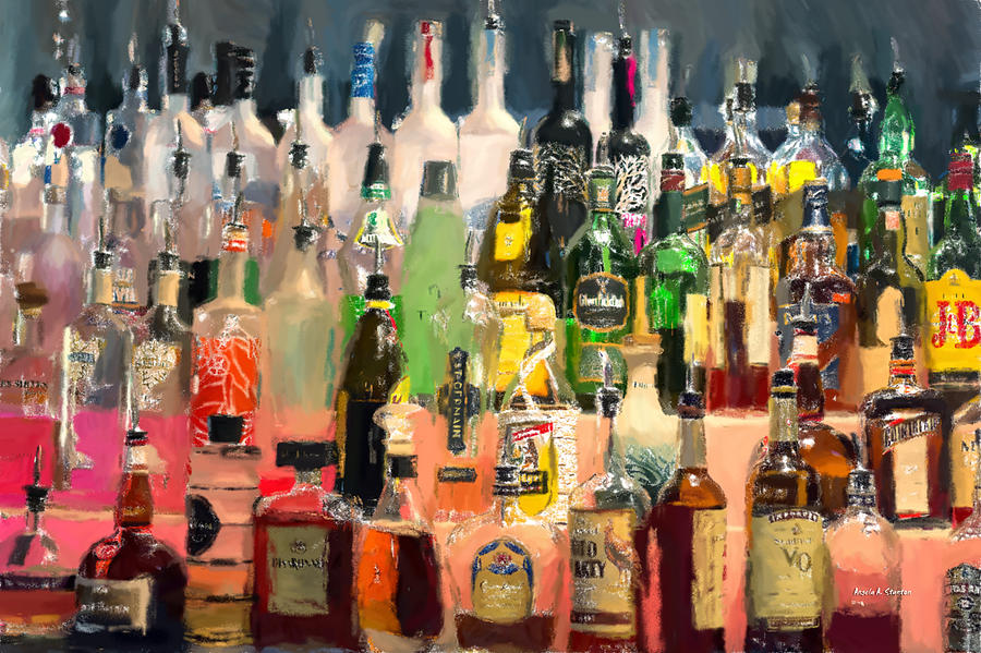 At The Bar Painting  - At The Bar Fine Art Print