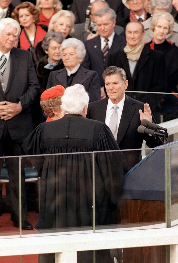 At The Capitol Building Ronald Reagan Photograph