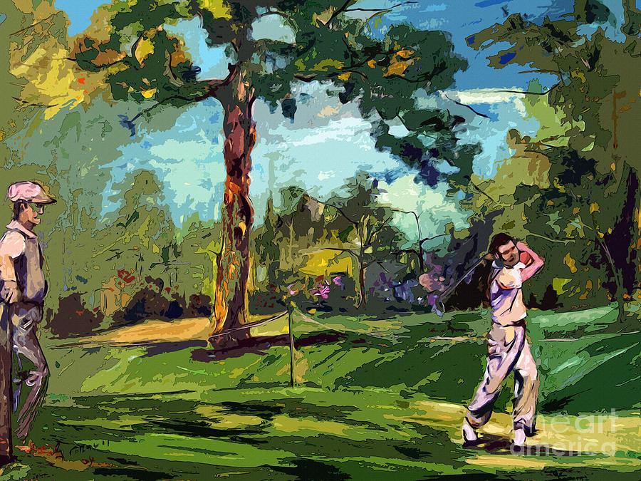 Toon Vintage Golf Art Print for Pinterest