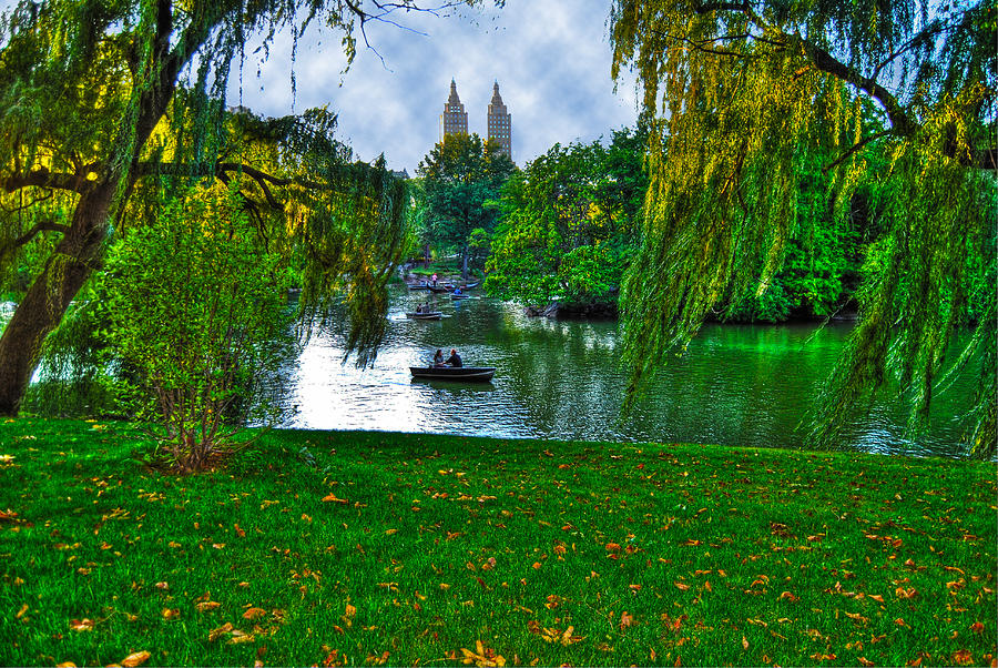 At The Lake In Central Park Photograph  - At The Lake In Central Park Fine Art Print