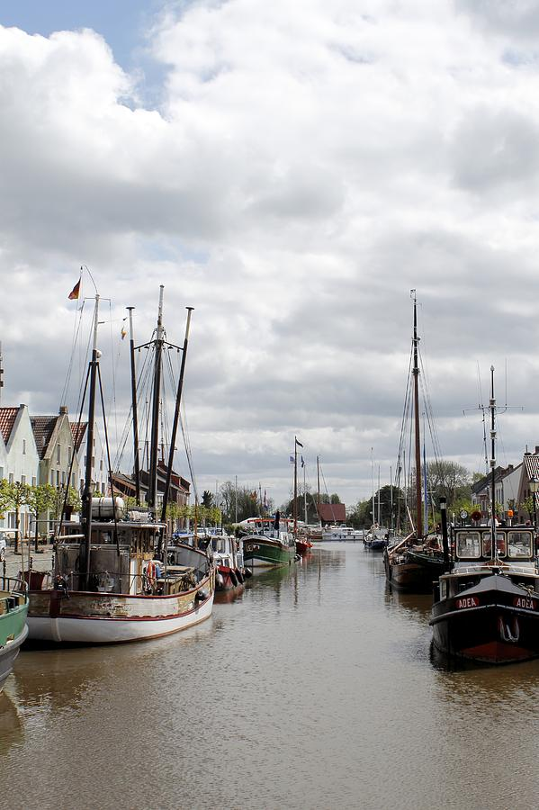 Boat Boats Ship Trawler Fish Fisherman Fishermen Cloud Clouds Harbor Harbour Water Old Town Color Colorful Photograph River Coast  Photograph - At The Old Harbor by Steve K