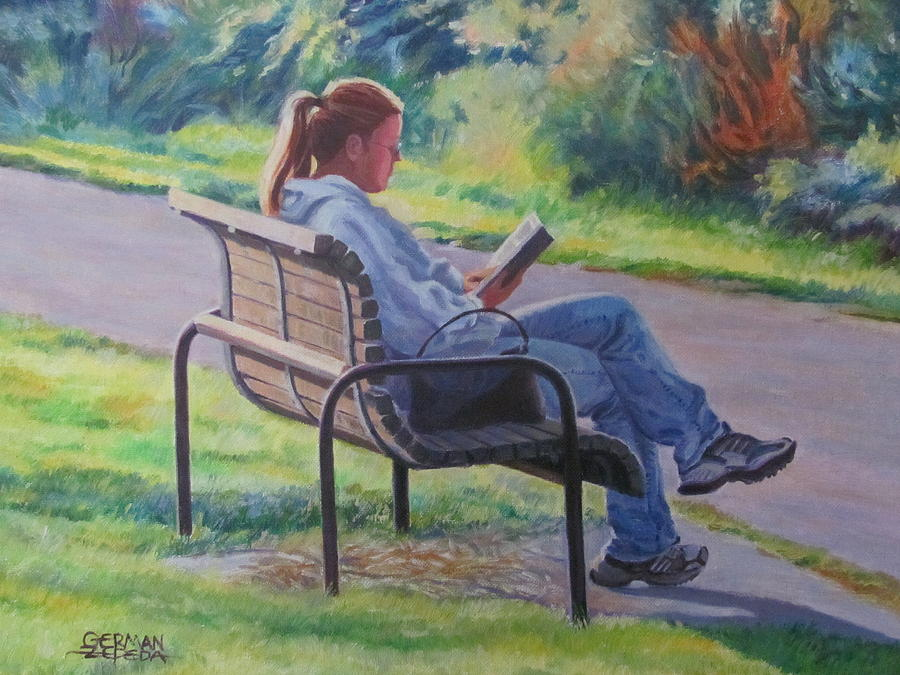 At The Park Painting