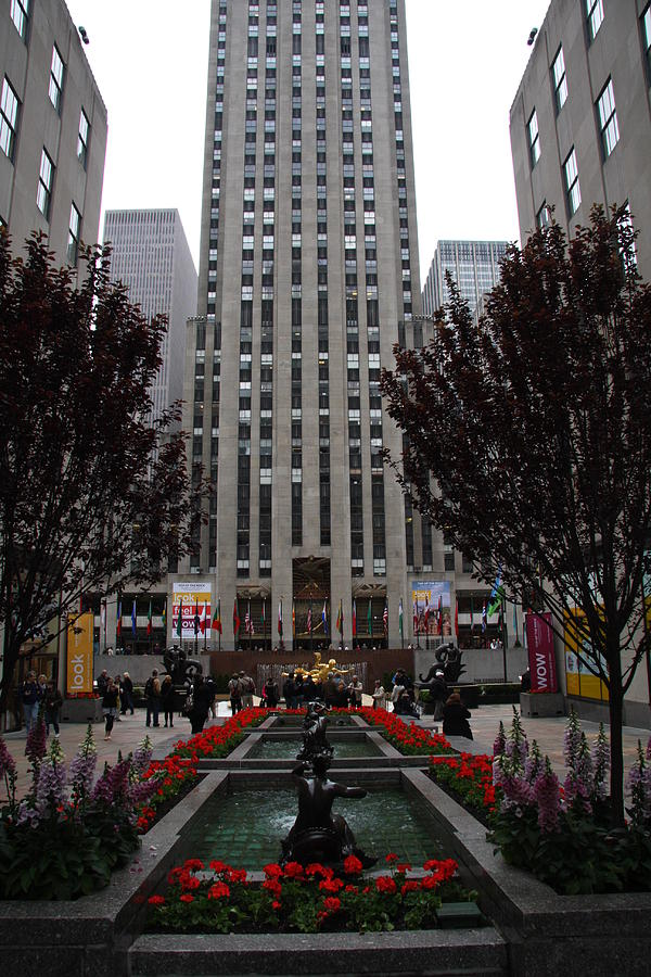 At The Rockefeller Center Photograph  - At The Rockefeller Center Fine Art Print