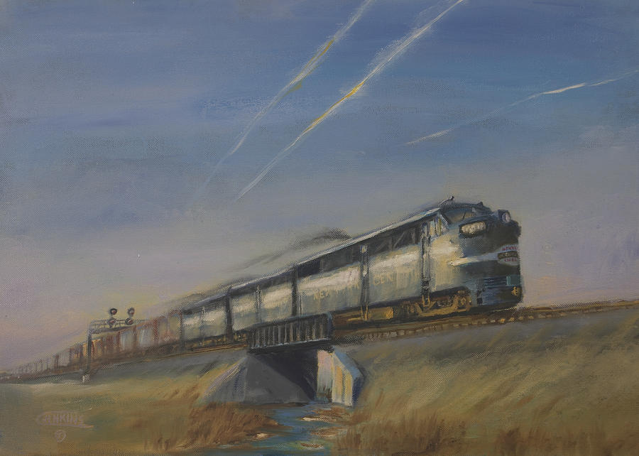 At Track Speed Painting  - At Track Speed Fine Art Print