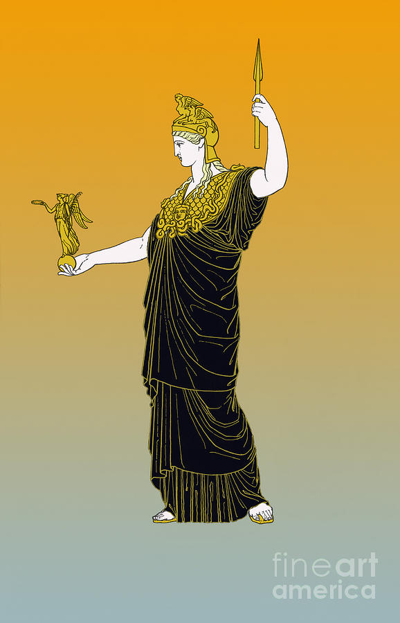 Athena, Greek Goddess Photograph