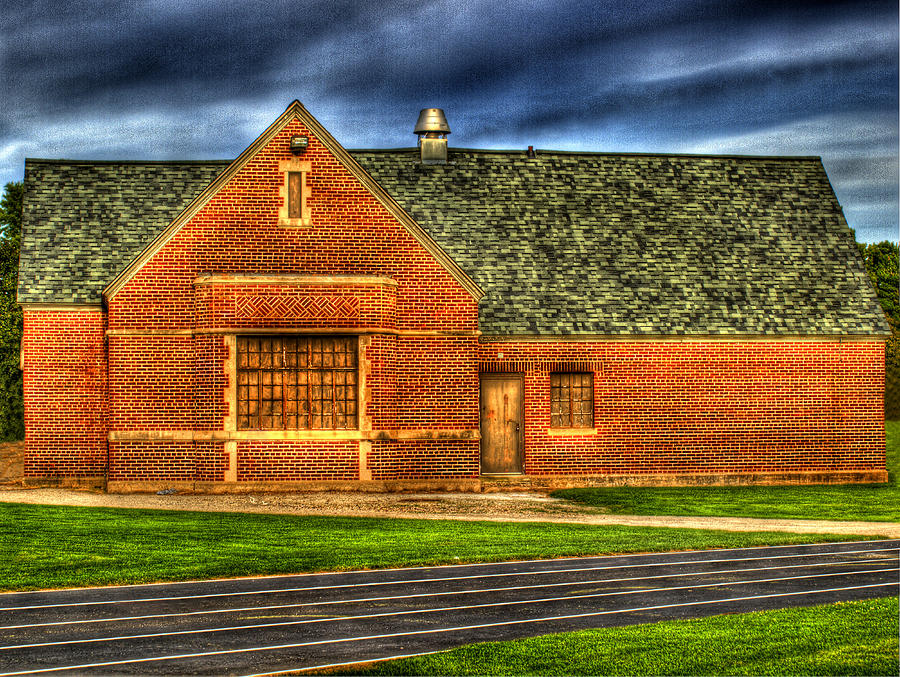 Athletic Building Photograph  - Athletic Building Fine Art Print