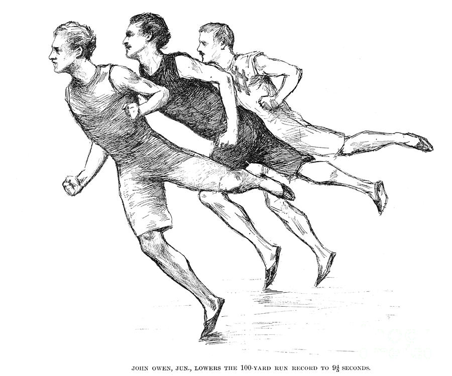 Athletics: Track, 1890 Photograph