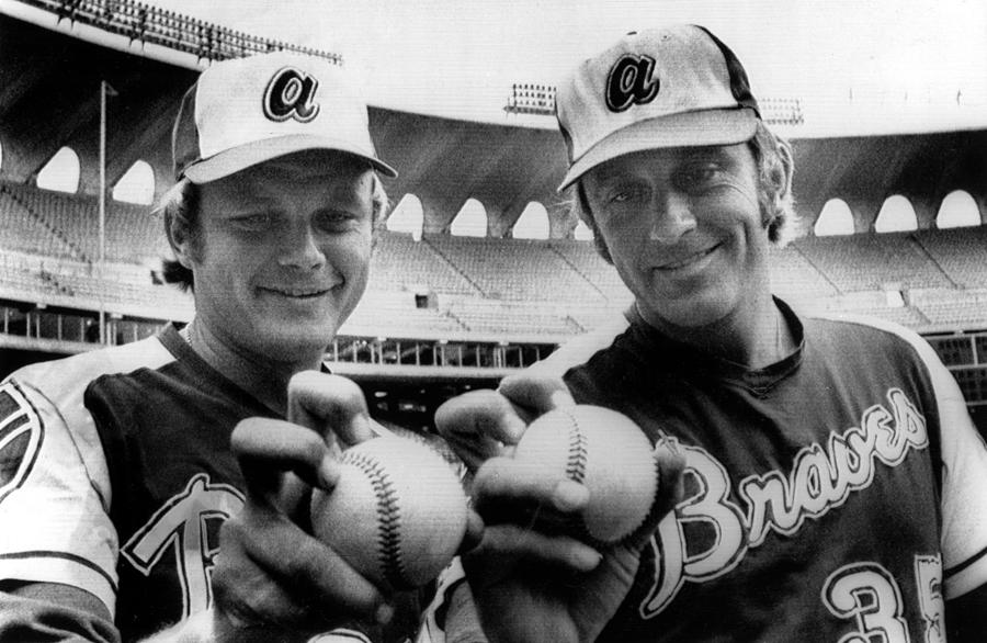 Atlanta Braves Pitchers Joe Niekro Photograph