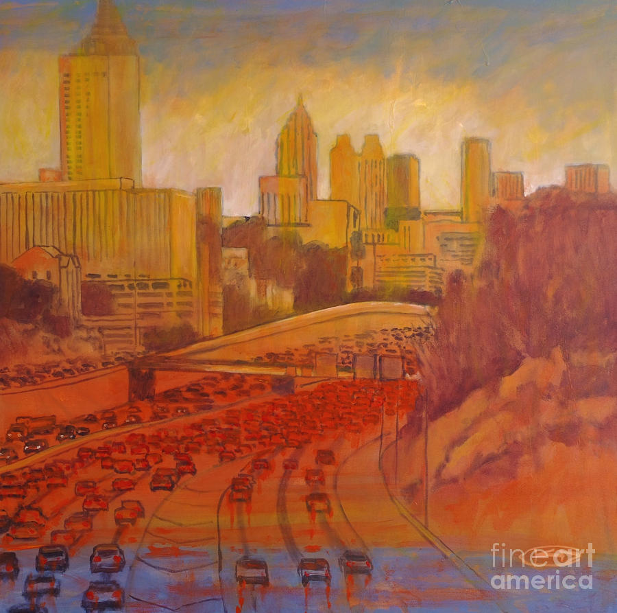 Atlanta rush by kip decker atlanta rush painting for Atlanta mural artist