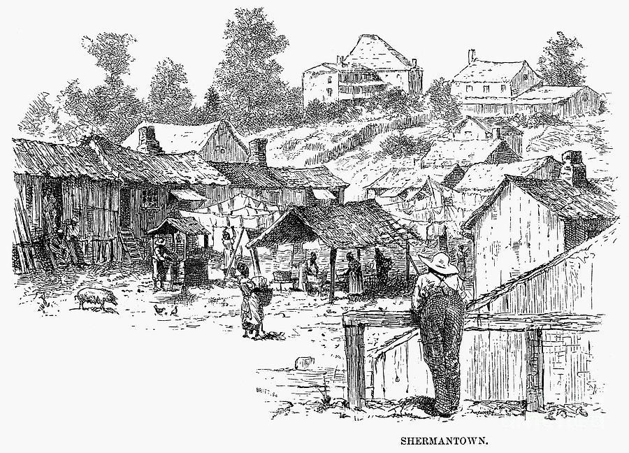 Atlanta: Shanty Town, 1879 Photograph by Granger - Atlanta: Shantygranger town