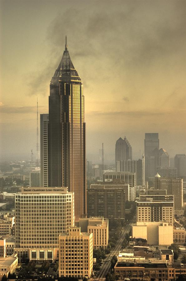 Atlanta Skyline At Dusk Photograph  - Atlanta Skyline At Dusk Fine Art Print