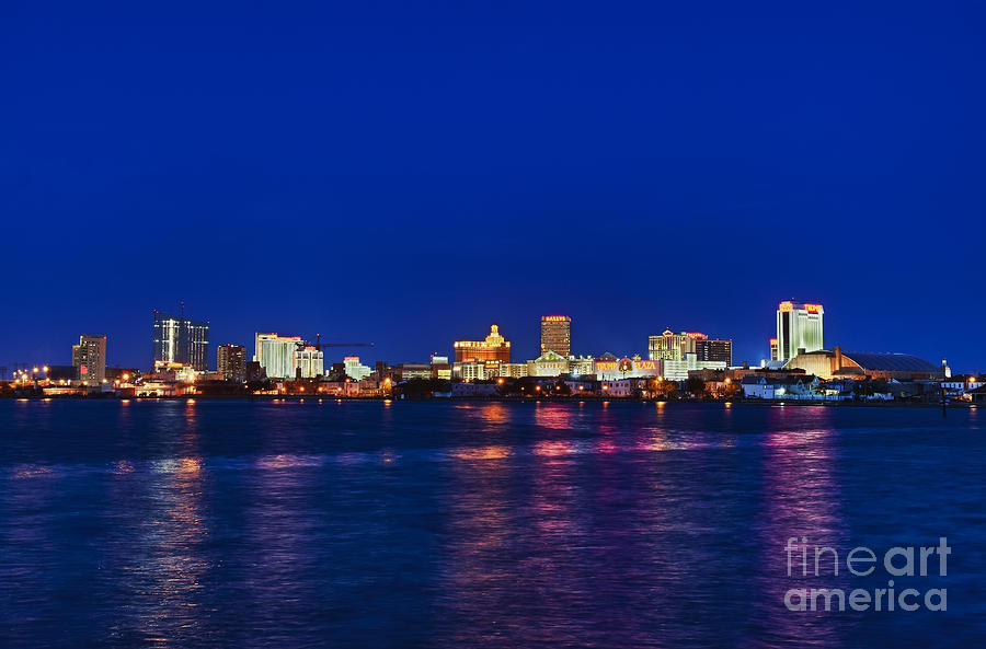 Atlantic City Skyline. Photograph  - Atlantic City Skyline. Fine Art Print