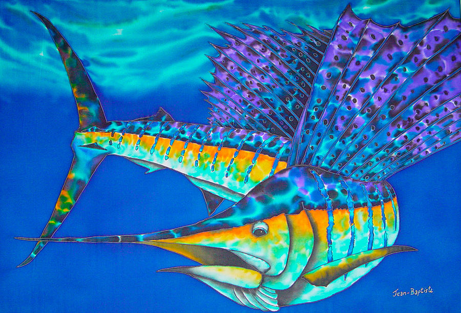Atlantic Sailfish II Painting  - Atlantic Sailfish II Fine Art Print