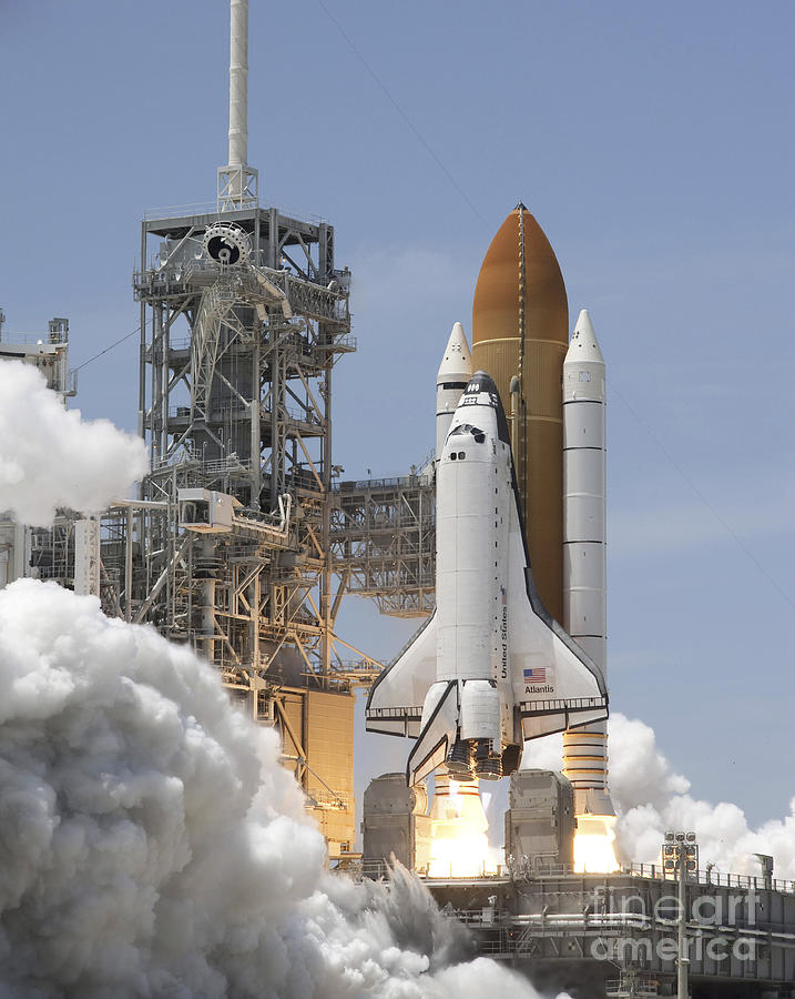 Atlantis Twin Solid Rocket Boosters Photograph