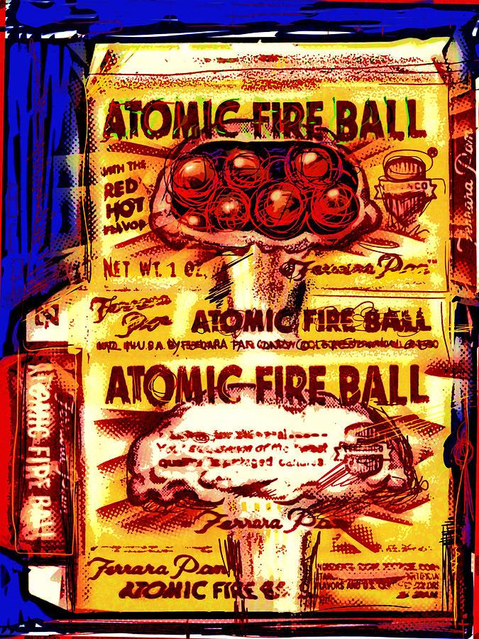 Atomic Fire Ball Mixed Media