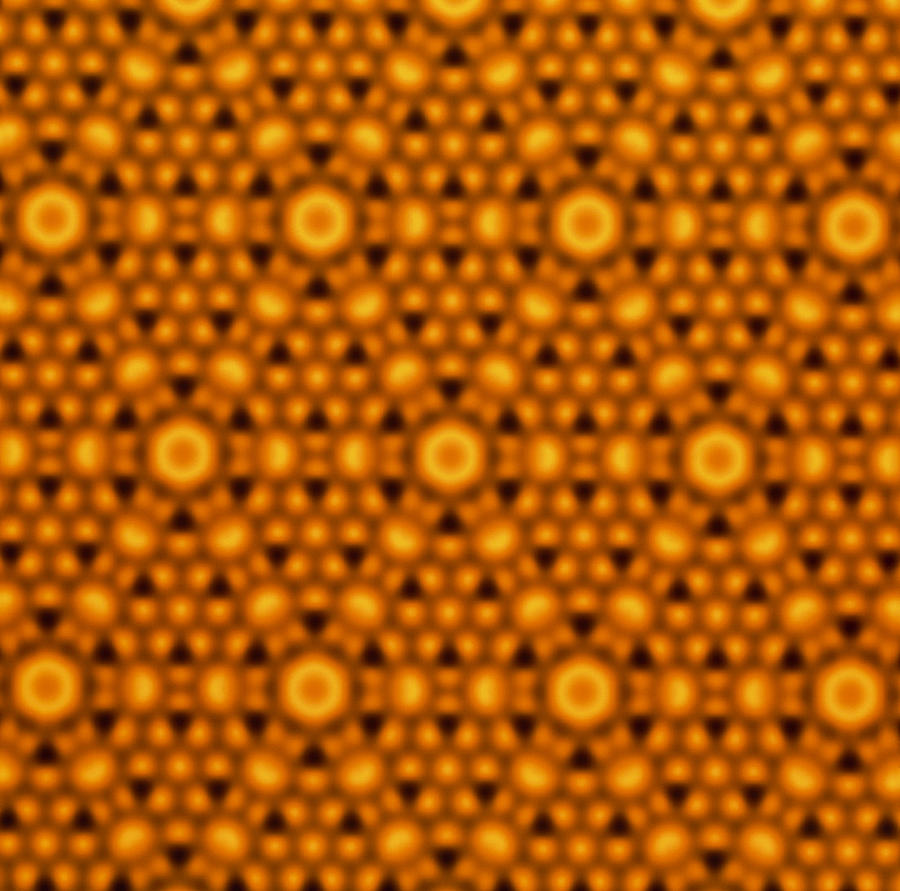 Atomic Surface Of A Silicon Crystal Photograph