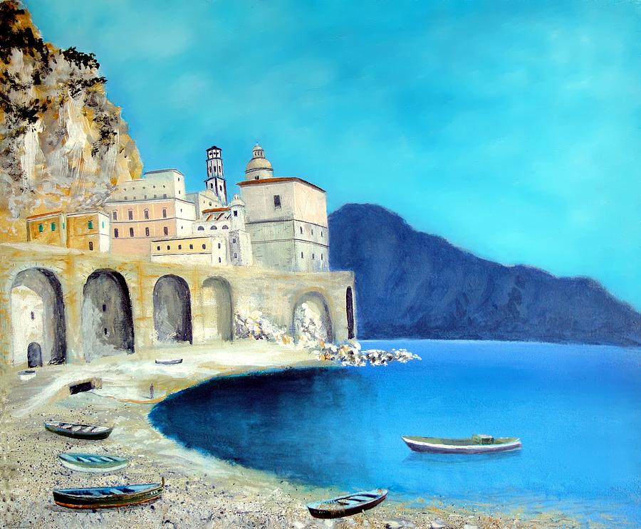 Atrani Italy Painting  - Atrani Italy Fine Art Print
