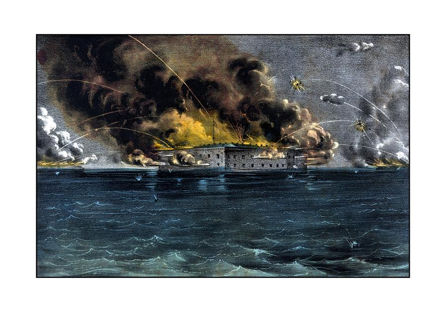 Attack On Fort Sumter Painting