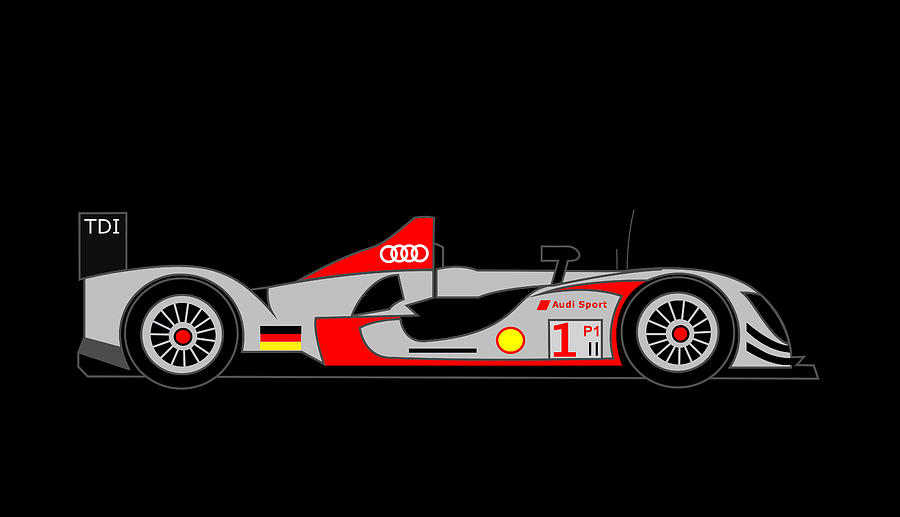Audi R15 Digital Art