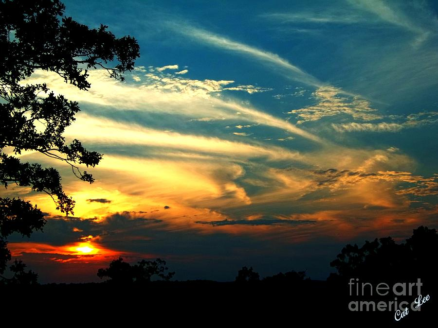 August Sunset Clouds Photograph  - August Sunset Clouds Fine Art Print